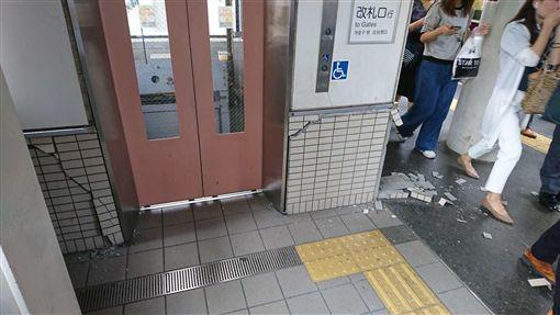 日本,大阪,地震,斷電,停駛,新幹線,電梯,環球影城翻攝畫面