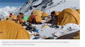 聖母峰,垃圾場,登山客,押金,垃圾,排泄物,賄絡 https://www.channelnewsasia.com/news/world/mount-everest-the-high-altitude-rubbish-dump-10441094