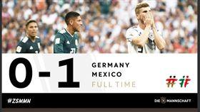 德國隊爆冷輸球。(圖/翻攝自德國隊推特)