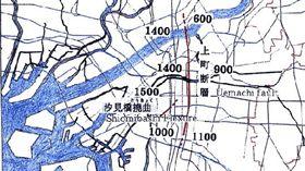 日本大阪上町斷層(圖/翻攝自大阪危機管理室)