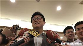 民進黨台北市長參選人姚文智澄清,綠是台灣價值是解釋之一,任何人都可以擴充、解釋。(圖/記者林惟崧攝)