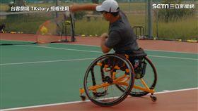 輪椅網球的球員積極面對自己的嶄新人生。