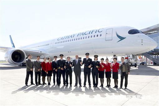 國泰空中巴士A350-1000客機。(圖/國泰航空提供)