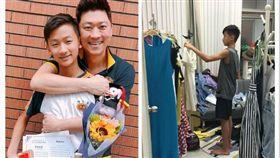 ▲kenken主動說要到公司幫忙爸媽燙衣出貨。(圖/翻攝自臉書)
