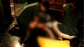 大陸電梯夾死女服務生/翻攝自梨視頻網站