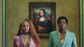 ▲傑斯與碧昂絲在蒙娜麗莎前(圖/翻攝自Beyoncé臉書)