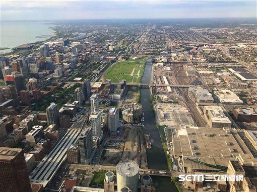 芝加哥摩天大樓, Willis Tower, 觀景台, Skydeck, The Ledge。(圖/記者簡佑庭攝)