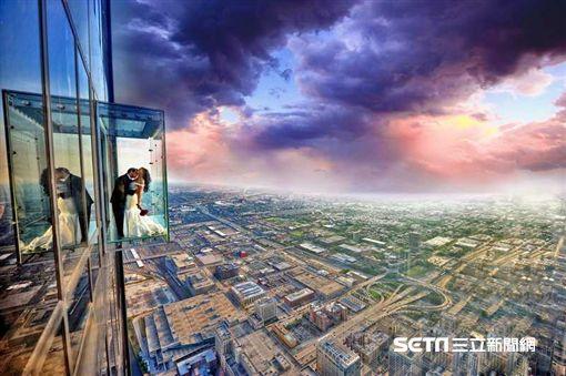 芝加哥摩天大樓, Willis Tower, 觀景台, Skydeck, The Ledge。(圖/Skydeck提供)