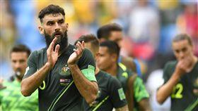 澳洲隊將比賽扳平。(圖/美聯社/達志影像)