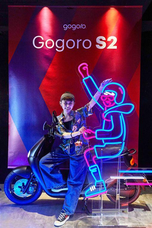 Gogoro巨型萬花筒互動快閃裝置。(圖/Gogoro提供)