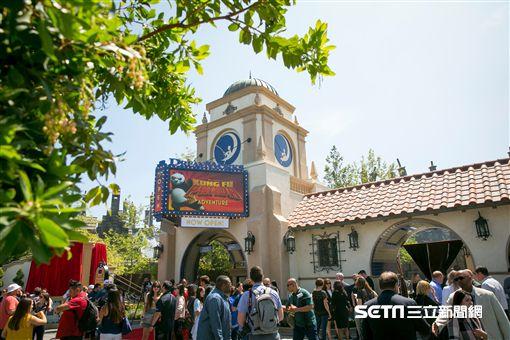 加州環球影城的全新景點:夢工廠劇院之《功夫熊貓:帝王任務》。(圖/加州環球影城提供)