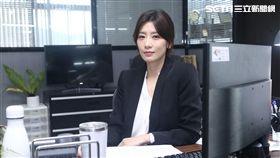 賈靜雯在新戲中飾演新聞台高階主管氣勢凌人。(圖/記者蔡世偉攝影)