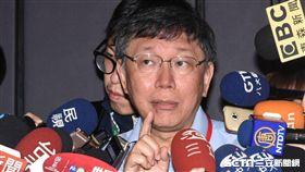 台北市長柯文哲出席AMMA搖籃計畫演講。 (圖/記者林敬旻攝)