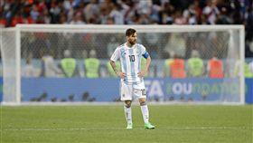 阿根廷意外敗給克羅埃西亞、梅西。(圖/美聯社/達志影像)
