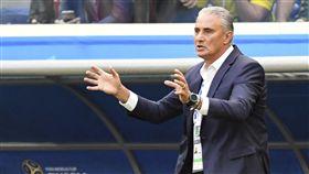 巴西總教練蒂堤。(圖/美聯社/達志影像)