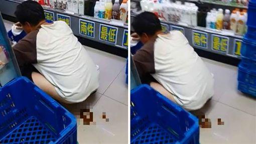 不少超商都會提供廁所給顧客使用,但有一名顧客等不及,竟當眾在超商走道脫褲大便,店員無奈地說「都要借他廁所了…」其他網友看到後掀起熱議,紛紛同情店員直呼「直接給他千年殺啦!」(圖/翻攝自爆廢公社)