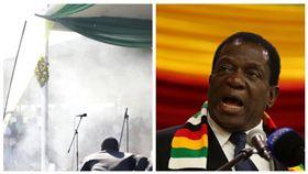 辛巴威總統姆南加瓦,Emmerson Mnangagwa(圖/ITV News推特)