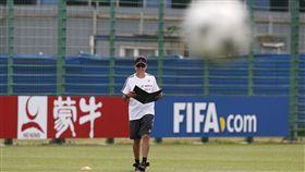 中國企業廣告在世界盃賽場不缺席。(圖/美聯社/達志影像)