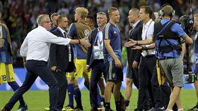 ▲德國與瑞典在賽後爆發衝突。(圖/美聯社/達志影像)
