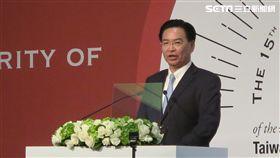 外交部長吳釗燮出席「台灣民主基金會15周年開幕典禮」。(圖/記者盧素梅攝)
