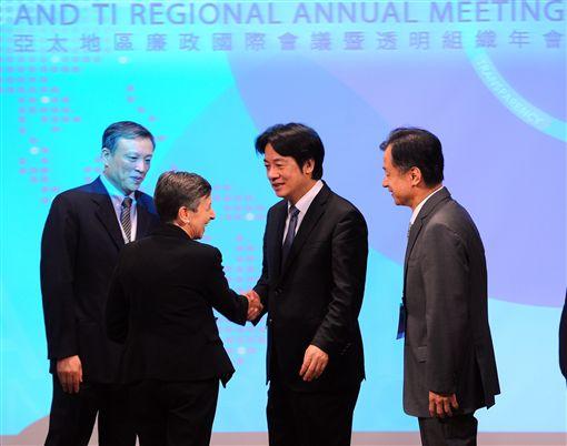 行政院長賴清德25日上午出席「亞太地區廉政國際會議暨透明組織年會開幕式」。(圖/行政院提供)
