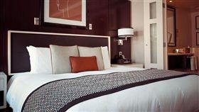 飯店,床,床尾布,房間 示意圖/Pixabay