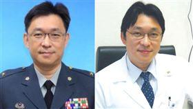 國軍台中醫院院長少將王智弘 合成圖翻攝自國軍台中總醫院、國防醫學院網站