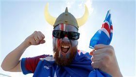 冰島球迷熱情。(圖/路透/達志影像)