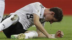 德國隊魯迪上一場鼻樑斷裂退場,此戰將不會上場。(圖/美聯社/達志影像)