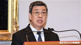 副總統陳建仁針對軍人年金改革發表談話。 (圖/記者林敬旻攝)