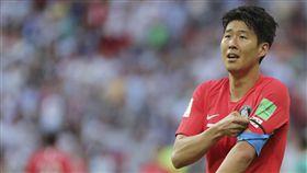 ▲孫興慜面對德國比賽擔任韓國隊長。(圖/美聯社/達志影像)