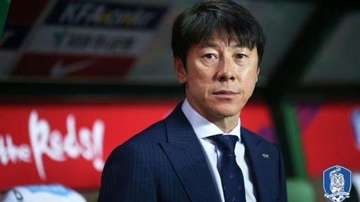 韓國總教練申台龍(圖/取自韓國足協推特)