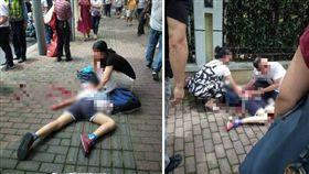 大陸上海今(28)日發生一起砍人事件,一名男子在世外小學浦北路校區門口亂砍學生,造成2名學生死亡、一名成年人受傷。目前砍人男子已被警方逮捕,詳細的事發原因仍待調查、釐清。(圖/翻攝自微博)