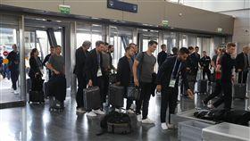 德國隊搭乘專機回國。(圖/路透社/達志影像)