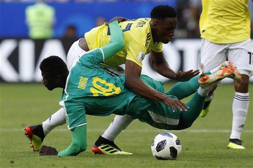 塞內加爾、哥倫比亞小組賽交手。(圖/美聯社/達志影像)