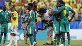 塞內加爾敗給哥倫比亞,使得接下來的淘汰賽見不到非洲球員身影。(圖/美聯社/達志影像)