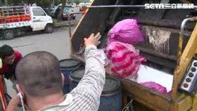 垃圾車、倒垃圾、垃圾、清潔、丟東西