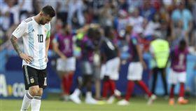 ▲梅西黯然結束世界盃旅程。(圖/美聯社/達志影像)