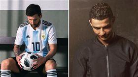 梅西(Lionel Messi)與C羅(Cristiano Ronaldo)(合成圖/取自兩人IG)