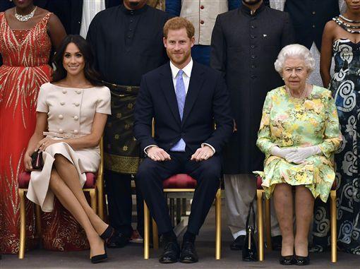 -梅根-英國皇室-哈利王子-女王-圖/美聯社/達志影像