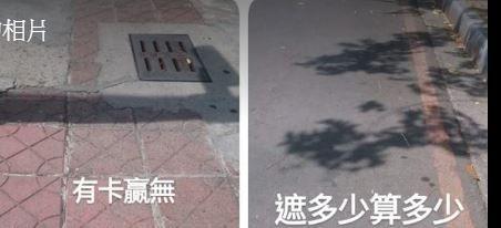 機車族躲太陽,陰影處挑選(圖/翻攝自高雄。愛樹人臉書)