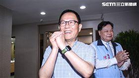 丁守中參加台北市退休警察人員協會慶生會。 (圖/記者林敬旻攝)
