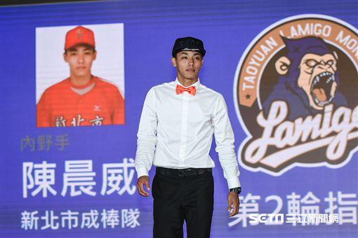 中華職棒2018年度選手選拔會,陳晨威。 (圖/記者林敬旻攝)