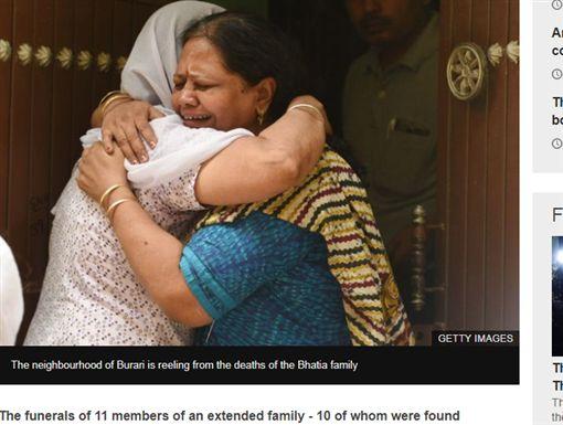 印度,新德里,滅門血案,吊死,孫女,訂婚,驗屍,絞死,派對(圖/翻攝自BBC)