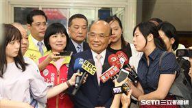 針對文大宿舍案,民近黨新北市長參選人蘇貞昌表示,希望侯友宜不要再喊這是抹黑。(圖/蘇辦提供)