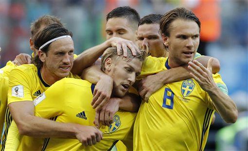 ▲瑞典睽違24年再度闖進世界盃8強。(圖/美聯社/達志影像)