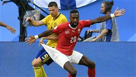 瑞士朱魯(Johan Djourou)的球褲成為話題。(圖/美聯社/達志影像)