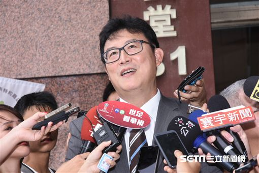 民進黨台北市長參選人姚文智出席台北市黨部主委就職典禮。 (圖/記者林敬旻攝)