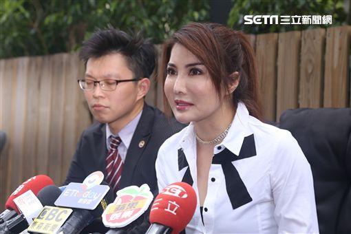 楊麗菁嚴厲斥責要求龔偉綸停止騷擾恐嚇的行為。(圖/記者蔡世偉攝影)