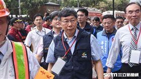 台北市長柯文哲出席台北車站防災演練 圖/記者林敬旻攝